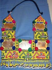 """Necklace Beaded Afghan Kuchi Tribal 24"""" with ties"""