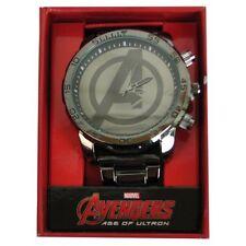 Official Marvel Avengers Age of Ultron Avengers Logo Gunmetal Bracelet Watch