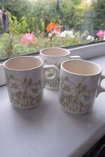 Hornsea Pottery Fleur COFFEE Cups x 3 British
