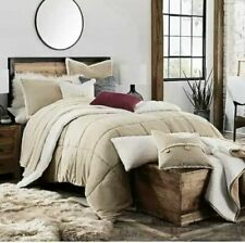 Ugg Home Hudson 3 Piece Full / Queen Comforter Set Oatmeal Sherpa New