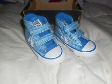 Boys Converse Blue Variegated Blue All Stars Hi-Tops Star Player  Shoes  Size 4