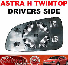 VAUXHALL ASTRA TWIN TOP ELECTRIC HEATED DOOR WING MIRROR GLASS DRIVERS OFF SIDE