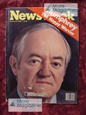 NEWSWEEK January 23 1978 HUBERT HUMPHREY VLADIMIR HOROWITZ CAMBODIA +++