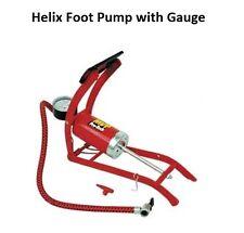 Helix Foot Pump Bicycle ATV 4 Wheeler Mountain Bike Pressure Guage Ground Stomp