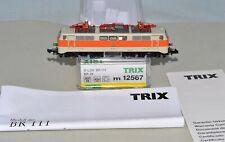 N Scale Minitrix 12567 BR 111 DB EP. IV Beige/Orange Electric Locomotive w/ DCC