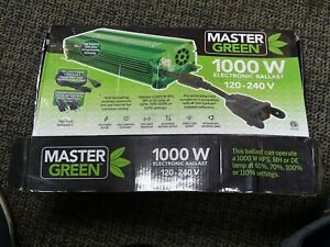 master green 1000w dimmable ballast