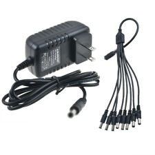 8 Way Splitter Connector 8-in-1 AC / DC Adapter For Lorex ACC-U81 ACCU81 Camera
