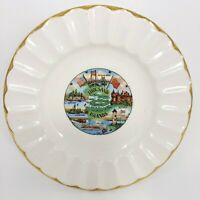 Vintage Canada Thousand Islands 22K Gold Hand Painted Souvenir Plate