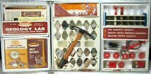 1960's SKILCRAFT child's Geology Lab in steel case -unused- rock specimens