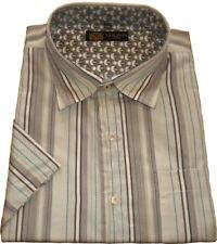 Camicie casual da uomo in misto cotone con colletto regolare