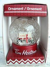"Tim Hortons ""COFFEE SHOP SNOW GLOBE"" Christmas Ornament 2015"