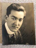 🔥 RARE Sessue Hayakawa Signed Autograph Photo, Silent Film Hollywood 1917