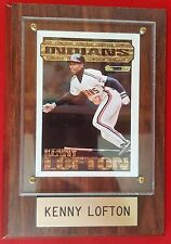 Kenny Lofton #7 Topps 1994 Black Gold Card#11 Cleveland Indians Wood Plaque MINT
