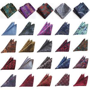 Men Colorful Floral Paisley Pocket Square Handkerchief Wedding Business Hanky