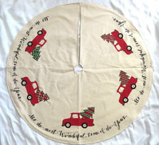 Old Red Truck Country Christmas Farm Tree Skirt Grubby Primitive Holiday