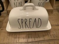 Rae Dunn Artisan Collection by Magenta SPREAD Large Butter Dish