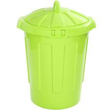 Large 80L 80 Litre Kitchen Home Rubbish Plastic Bin Storage Dustbin LIME GREEN