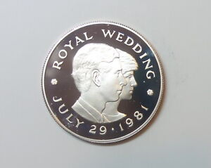 JERSEY : SILVER  PROOF TWO POUNDS 1981. 0.925 SILVER. ROYAL WEDDING CHARLES & DI