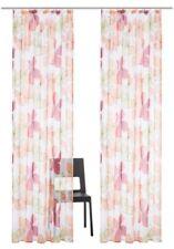 Gardine 245 x 140 weiß bunt Blumen Store Dekoschal Kräuselband transparent