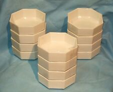 """ONE SET OF FOUR Arcoroc France OCTIME BONE WHITE Cereal Bowls 5-5/8"""" X 2"""" - EUC"""