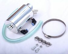 Oil Catch Can 9mm Fittings Universal Breather Tank Silver