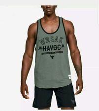 """Under Armour /""""The Rock/"""" Mana Strong Mens Sleeveless Cut-Off Shirt Sz 1326385 750"""
