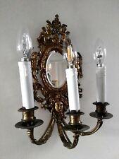 COPPIA DI APPLIQUES,ANTICHI,FRANCIA 900,in Bronzo dorato,con Specchi molati.