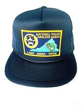 Vintage National Police Anglers Association Lake Anna Open Mesh Trucker Hat Cap