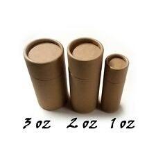 Empty Cardboard Deodorant Containers - Naturally BPA Free, Biodegradable:1-2-3oz
