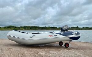 HONWAVE T32 INFLATABLE BOAT SIB TOHATSU 9.8 2 STROKE OUTBOARD   Dinghy motor