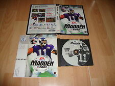 MADDEN NFL 2002 FUTBOL AMERICANO DE EA SPORTS PARA PC USADO COMPLETO