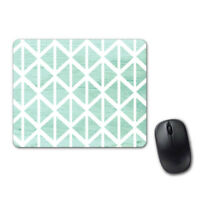 Pastel Green Geometric Pretty Mouse Pad Computer Tablet PC Laptop Mice Mat