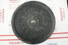1 Weider Barbells Bar Bell 25 LB Iron Weight Plate 25l bs Total - Ships Free