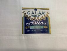 VINTAGE UNUSED NEW OLD STOCK WHITE FLAT Full Double SHEET Galax ORIG Label