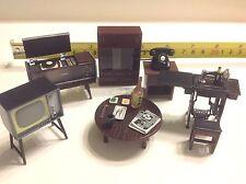 Dollhouse Miniature Magnet Japanese Vintage 1:24 Living Room Furniture Set