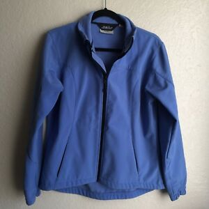 Black Diamond Blue Jacket Soft Shell Water Resistant Zip Up Womens Small
