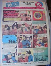 Captain Midnight Sunday by Jonwon from 11/15/1942 Large Rare Full Page Size!