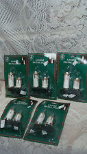 (5) packages  double  Candle Stick Clip-On Christmas Tree Lights pigtail lights