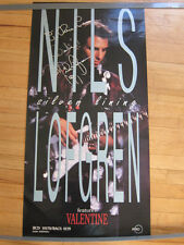 NILS LOFGREN Silver Lining promo poster hand AUTOGRAPHED 18x36