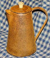 Rustic Primitive Rusty Tin Coffee Pot country home decor