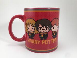 Harry Potter Coffee Mug Harry, Hermione, Ron Red 20oz Ceramic Tea Mug