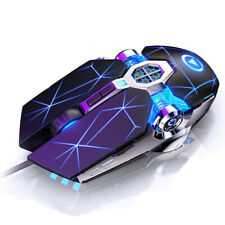 7 button 3200DPI Adjustable Silent Optical LED USB Wired Pro Gaming Mouse Mice