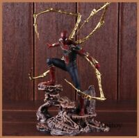 Marvel Avengers Infinity War Iron Spiderman Statue PVC Spider Man Spider-Man