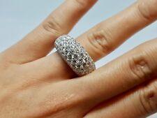 Bague Jonc en Or blanc 18 carats 93 Diamants 2.80 carats 12.83 grammes