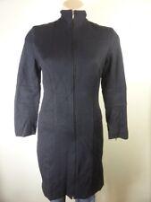 EVENTS black chic Long tailored zip front dress Jacket Blazer sz 6 8