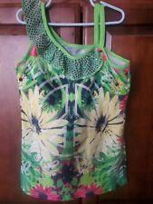 Girls Justice Tye dye peace floral Size 14  Tank Top