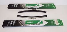 New Pair Lucas Stainless Wiper Blades  for MGB 1963-1968