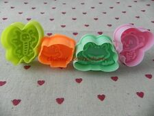 4pc Cartoon Frog Beetles Bee Fondant Cookie Mold Sugarcraft Plunger Cutter Mould
