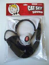 Childrens fancy dress Cat set & sound (ears, tail, nose, bowtie)