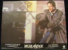HIGHLANDER  lobby cards CHRISTOPHER LAMBERT, CLANCY BROWN